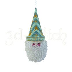 """Набор для вышивания на пластиковой канве НГ012/2 Игрушка на елку """"Санта"""" (зеленый)"""