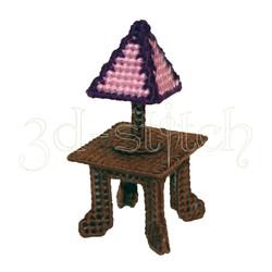 """Набор для вышивания на пластиковой канве Н009-2 Cтолик с лампой """"Амелия"""""""