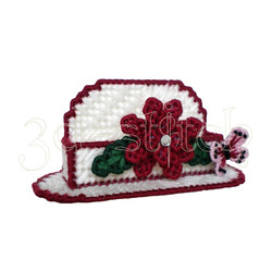 """Набор для вышивания на пластиковой канве Н010-1 Визитница """"Нежный гранат"""""""