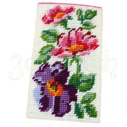"""Набор для вышивания на пластиковой канве ОЧ002 Очечник """"Цветущий шиповник"""""""