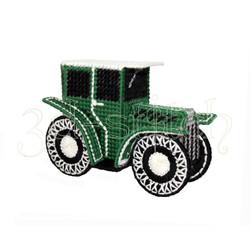 """Набор для вышивания на пластиковой канве Р004 """"Зеленый автомобиль"""""""