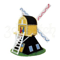 """Набор для вышивания на пластиковой канве """"Ветряная мельница - 1"""", арт. Р006"""