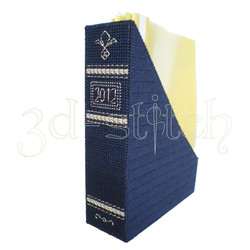 """Набор для вышивания на пластиковой канве Коробка для журналов """"Домашний архив"""" (синяя), арт. Р012-2"""