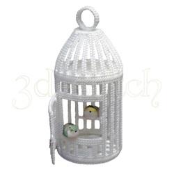"""Набор для вышивания на пластиковой канве Р015 """"Клетка для птички"""""""