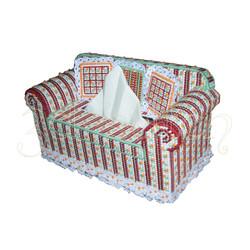 """Набор для вышивания на пластиковой канве С002-2 Салфетница """"Диван с подушками"""" (красный)"""