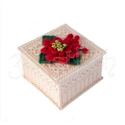 """Набор для вышивания на пластиковой канве Ш003/6 Шкатулочка """"Рождественская звезда"""""""