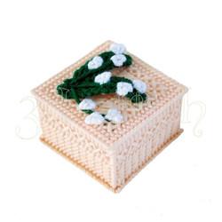 """Набор для вышивания на пластиковой канве Шкатулочка """"Подснежники"""", арт. Ш003-7"""
