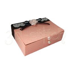 """Набор для вышивания на пластиковой канве Ш004 Шкатулка """"Розовая фантазия"""""""