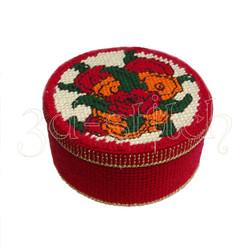 """Набор для вышивания на пластиковой канве Шкатулка """"Красные розы"""", арт. Ш010"""
