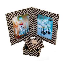 """Набор для вышивания на пластиковой канве Н013 Фоторамка и шкатулка """"Счастливые мгновения"""""""