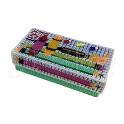 """Набор для вышивания на пластиковой канве Пенал """"Яркие карандаши"""", арт. КР001"""