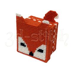 """Набор для вышивания на пластиковой канве Коробочка """"Лисичка"""", арт. КР027"""