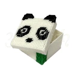 """Набор для вышивания на пластиковой канве Коробочка """"Панда"""", арт. КР028"""