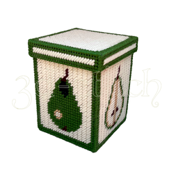 """Набор для вышивания на пластиковой канве Коробка """"Фруктовый декор. Груша"""", арт. КР033"""