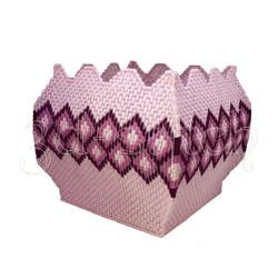 """Набор для вышивания на пластиковой канве """"Кашпо с орнаментом"""", арт. КШ003"""
