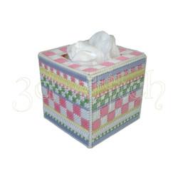 """Набор для вышивания на пластиковой канве Коробка для ватных шариков """"Нежность"""", арт. Н002-4"""