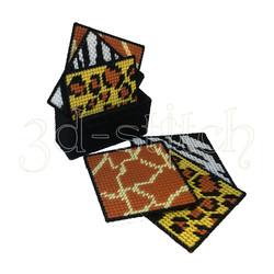 """Набор для вышивания на пластиковой канве Набор подставок """"Саванна"""", арт. ПД003"""