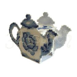 """Набор для вышивания на пластиковой канве Чайный домик """"Гжель"""", арт. ЧД003"""