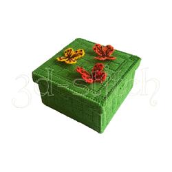 """Набор для вышивания на пластиковой канве Шкатулка """"Магия бабочек"""", арт.Ш011"""