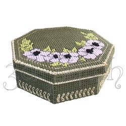 """Набор для вышивания на пластиковой канве Шкатулка """"Чайные розы"""", арт. Ш020"""