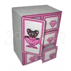 """Набор для вышивания на пластиковой канве ДТ001 Комод """"Любимый мишка"""""""