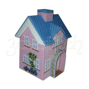 """Набор для вышивания на пластиковой канве Д003 """"Розовый домик"""""""