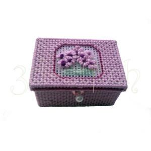 """Набор для вышивания на пластиковой канве КР002-1 Мыльница """"Вечерняя примула"""""""