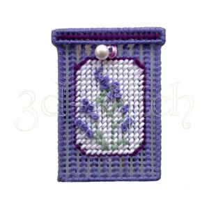 """Набор для вышивания на пластиковой канве КР003 Мыльница """"Английская лаванда"""""""