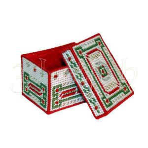 """Набор для вышивания на пластиковой канве КР006 """"Рождественская коробка"""" (малая)"""