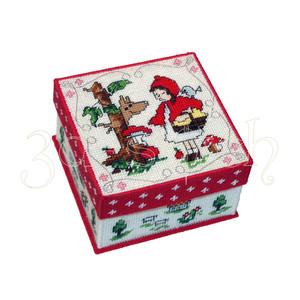 """Набор для вышивания на пластиковой канве КР023 Коробка """"Красная Шапочка"""""""