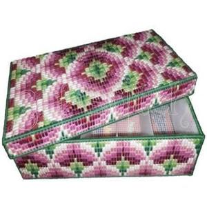 """Набор для вышивания на пластиковой канве КР025 Коробка-органайзер """"Венецианская мозаика"""""""