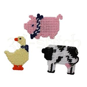 """Набор для вышивания на пластиковой канве М002 Магнитики """"Домашние животные"""""""
