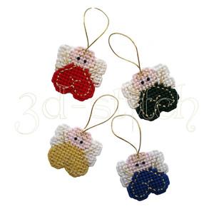 """Набор для вышивания на пластиковой канве НГ014 Елочные украшения """"Ангелочки"""""""