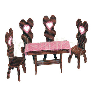 """Набор для вышивания на пластиковой канве Н009-5 Стол и 4 стула """"Амелия"""""""