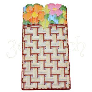 """Набор для вышивания на пластиковой канве ОЧ001 Очечник """"Цветочная корзина"""""""