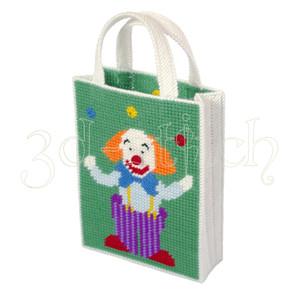 """Набор для вышивания на пластиковой канве СМ006 Сумочка """"Веселый клоун"""""""""""