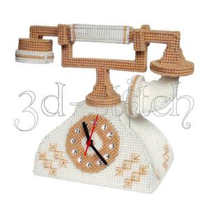 """Набор для вышивания на пластиковой канве Ч001 """"Телефон-часы"""""""