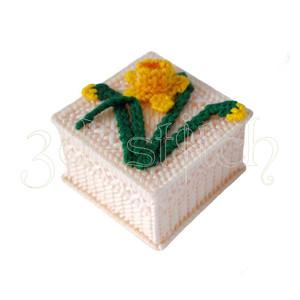 """Набор для вышивания на пластиковой канве Ш003/5 Шкатулочка """"Солнечный  нарцисс"""""""