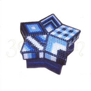 """Набор для вышивания на пластиковой канве Ш008 Шкатулка-звезда """"Индиго"""""""