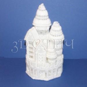 Набор для вышивания на пластиковой канве НГ015 Набор Зимних Замков
