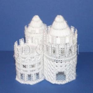 """Набор для вышивания на пластиковой канве НГ015-4 """"Белая башня"""""""
