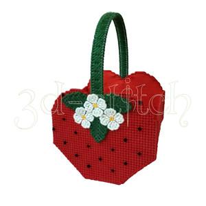 """Набор для вышивания на пластиковой канве КЗ010 Корзинка """"Клубничный аромат"""""""
