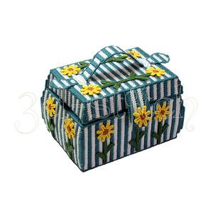 """Набор для вышивания на пластиковой канве Ш022 Шкатулка """"Подсолнухи"""""""